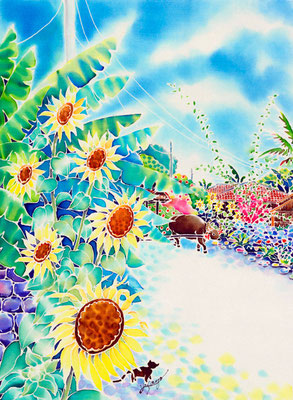 珊瑚の小道:原画サイズ30x40cmSOLD