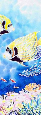 Emperor angelfish:原画サイズ11x30cmSOLD