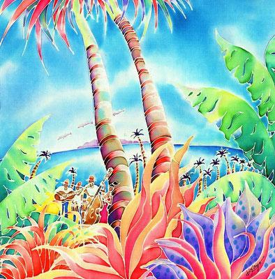 Island of music:原画サイズ30x30cm