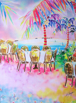 tables on the beach:原画サイズ30x40cm SOLD