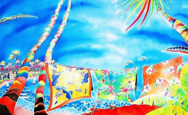 Tropical wind:原画サイズ73x45cm
