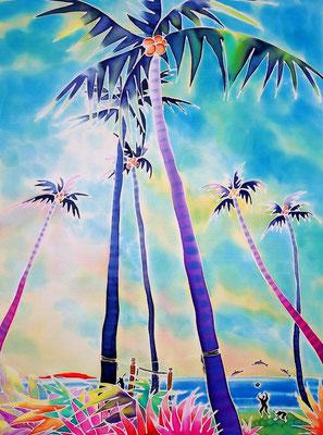 Kamaore beach:原画サイズ38x50cm