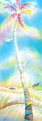 Golden light:原画サイズ11x30cm  SOLD