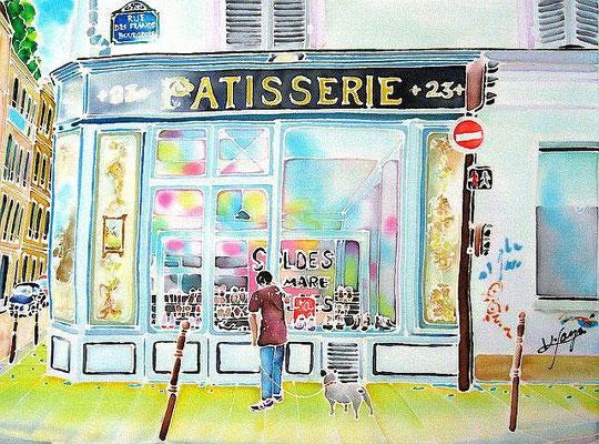 パリ・ソルドの季節:原画サイズ36x26cm