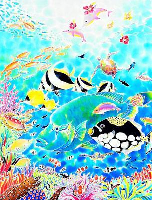 ちゅら海ドリーム :原画サイズ48x62cm SOLD