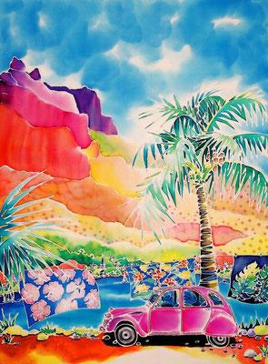 風の島モーレア:原画サイズ37x50cm SOLD