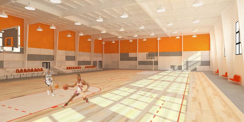Эскиз интерьера спортивного зала