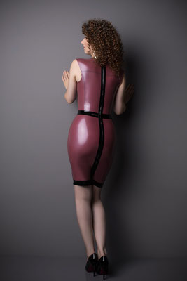 Latex dress gloria sixties