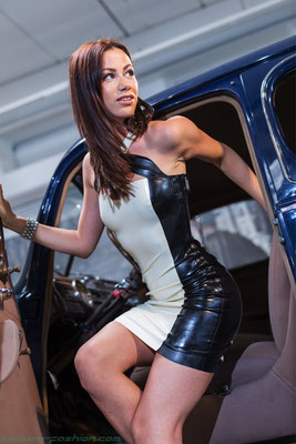 latex couture cocktail dress 2015