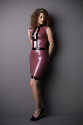 latex kleid gloria mini