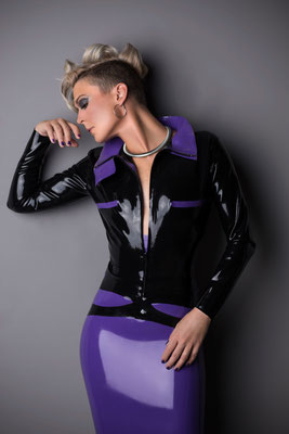 Jacket Latex outfit