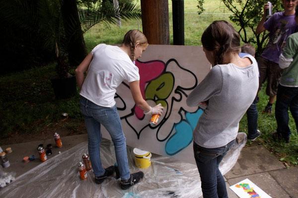 Graffitiworkshop Glottertal Sommerferienprogramm