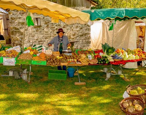 Gemüsestand von Köstlers Bio-Bauernhof auf dem Grassemann