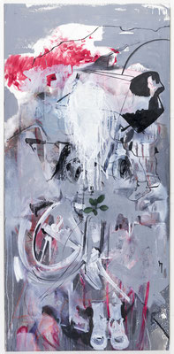 SMOKER 2013 OIL ON CANVAS 100X200CM