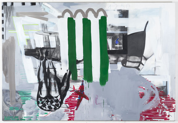 AIRPORTS 2015 OIL ON CANVAS 140X160CM