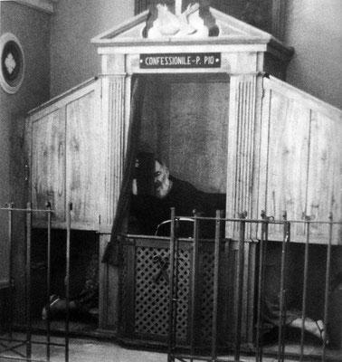 Dopo la visita di mons. Maccari, il nuovo guardiano padre Rosario da Aliminusa fece foderare di legno il cancello attraverso il quale i forestieri vedevano il Padre quando confessava