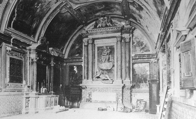 """Interno della """"Cappella del Tesoro"""" [da Maietta-Vanacore, L'Annunziata..., Castellammare di Stabia 1997]"""