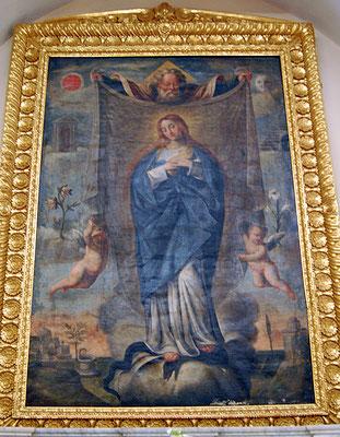 La tela dell'Immacolata con l'Eterno Padre