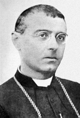 Mons. Raffaello Carlo Rossi (1876-1948), vescovo di Volterra. Nel giugno 1921 sottopose a interrogatorio il Frate, mediante 142 domande incasellate in 6 deposizioni, una delle quali riporta le parole dettegli da Cristo: «Ti associo alla mia Passione!»
