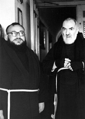 Il Padre con fra Gerardo Di Flumeri, nel periodo in cui questi fu di famiglia a San Giovanni Rotondo in veste di vicario ed economo (1963-1964)