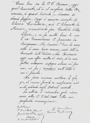 Lettera del vescovo di Larino, mons. di Milia, al Ministro generale dei Cappuccini, padre Bernardo Christen d'Andermatt, 3ª pagina (15 marzo 1901)