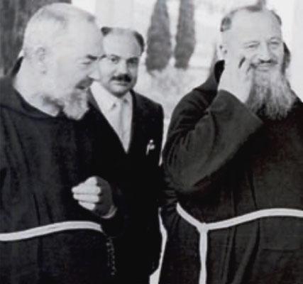 Padre Pio con padre Leone Patrizio da San Giovanni Rotondo (1885-1963)