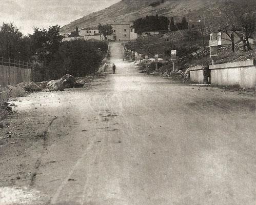 La lunga strada sterrata che conduceva al centro abitato di San Giovanni Rotondo