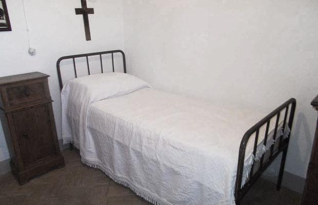 La cella occupata da Fra Pio nel suo anno di permanenza nel convento
