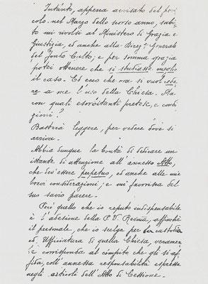 Lettera del vescovo di Larino, mons. di Milia, al Ministro generale dei Cappuccini, padre Bernardo Christen d'Andermatt, 2ª pagina (15 marzo 1901)