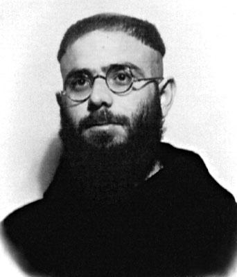 """Padre Rosario da Aliminusa (1914-1983), in un'immagine giovanile. In seguito alla visita di Maccari, dalla Sicilia venne nominato nuovo guardiano a S. Giovanni, dove giunse nel settembre 1960. Per oltre tre dolorosi anni fu il """"carceriere"""" del Padre"""