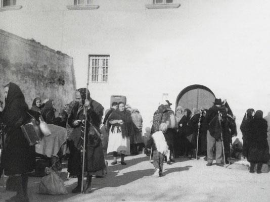Ancora pellegrini in partenza dal Convento