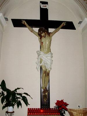 Il Crocifisso della chiesa conventuale - ma questo è del 1935 - per ringraziare il Signore della giornata trascorsa e a cui affidare quella entrante ...