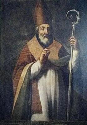 S. Pardo vescovo, dipinto su tela. Lucera, Museo Diocesano [foto W. di Pierro]