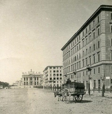 La Basilica di San Giovanni in Laterano, Cattedrale di Roma, vista da Viale Carlo Felice