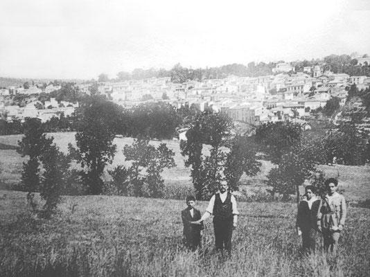 Veduta di Pietrelcina agli inizi del Novecento