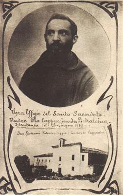 """""""Vera effigie del Santo Sacerdote Padre Pio Cappuccino da Pietralcina (sic)"""", del 27 giugno 1919 [da Paolino da Casacalenda, """"Le mie memorie intorno a padre Pio"""", San Giovanni Rotondo 1978]"""