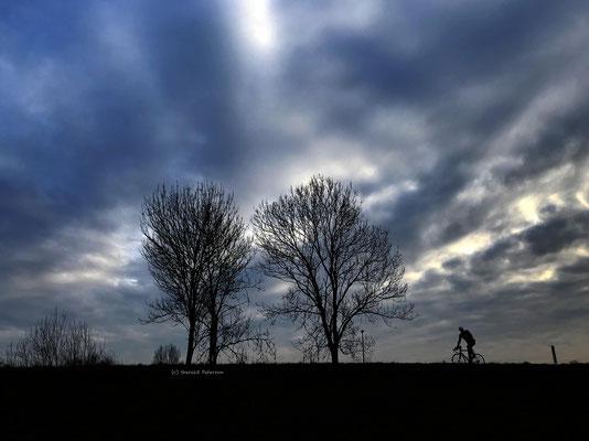 Cyclist enjoying the view