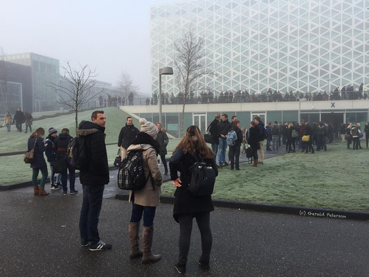 Evacuation drill, X building, Windesheim University
