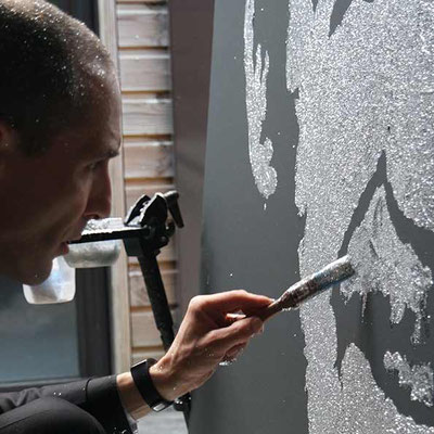 Retouches après un live painting - France - Peintre performer