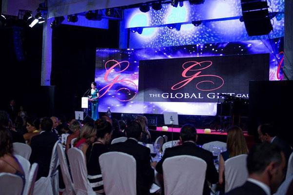 La scène du Gran Melia Marbella pour le global gift gala