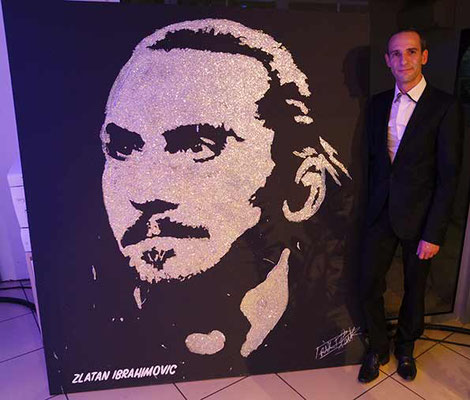 Zlatan Ibrahimovic portrait's by EriK BLACK