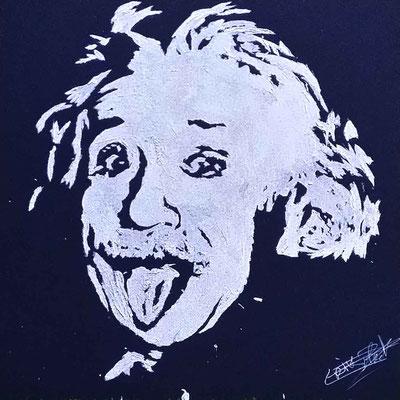 Portrait glitter d'Albert Einstein - Évènement d'entreprise - Nice - France