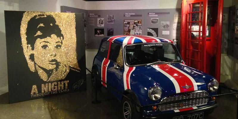 Évènement au British Film Museum à Londres pour le Carlton - Portrait d'audrey Hepburn