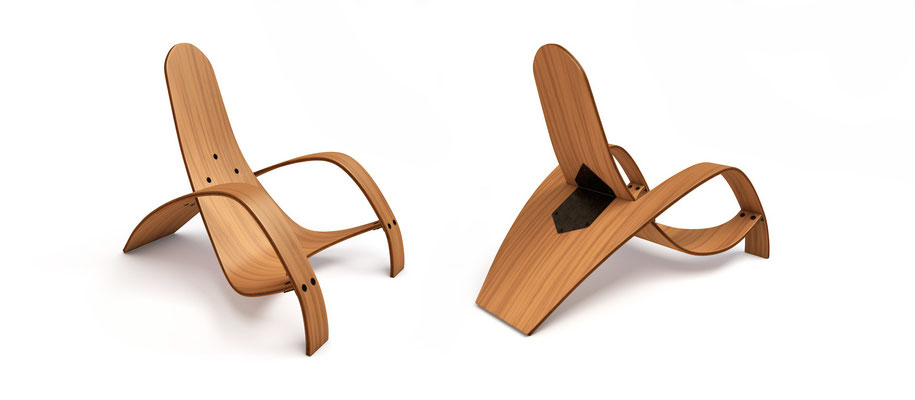 """reproduction """"plywood chair"""""""