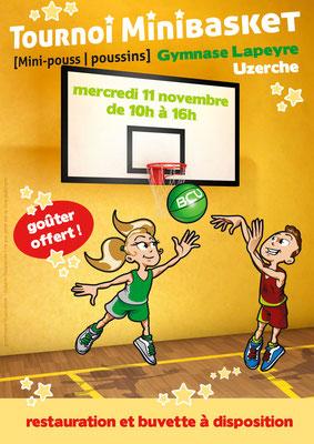 Flyer du Basket Club Uzerchois [bénévolat]