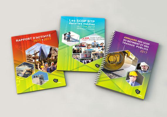 Brochures Fédération Nationale des SCOP du BTP [création, mise en page]