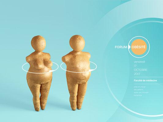 """couverture du programme """"Forum de l'obésité"""" [création pour le CHU de Limoges]"""