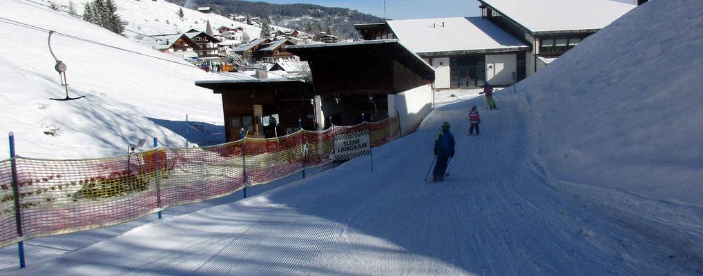 Skigebiet Kleinwalsertal – am Schlössle