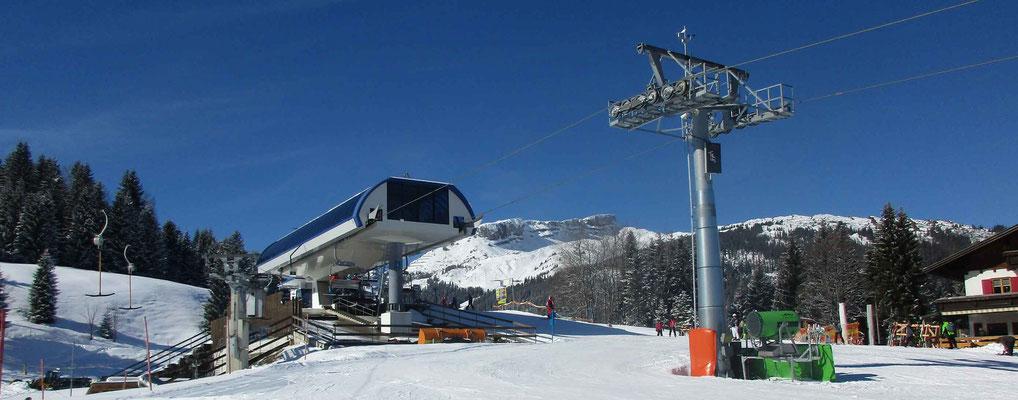 Skigebiet Kleinwalsertal –Parsen Bergstation