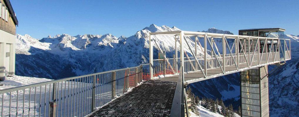 Skigebiet Kleinwalsertal – Aussichtskanzel Walmendingerhorn